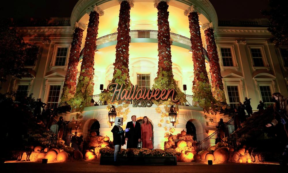 US President Donald Trump and first lady Melania Trump host a Halloween event at the White House in Washington, US, 25 October 2020.