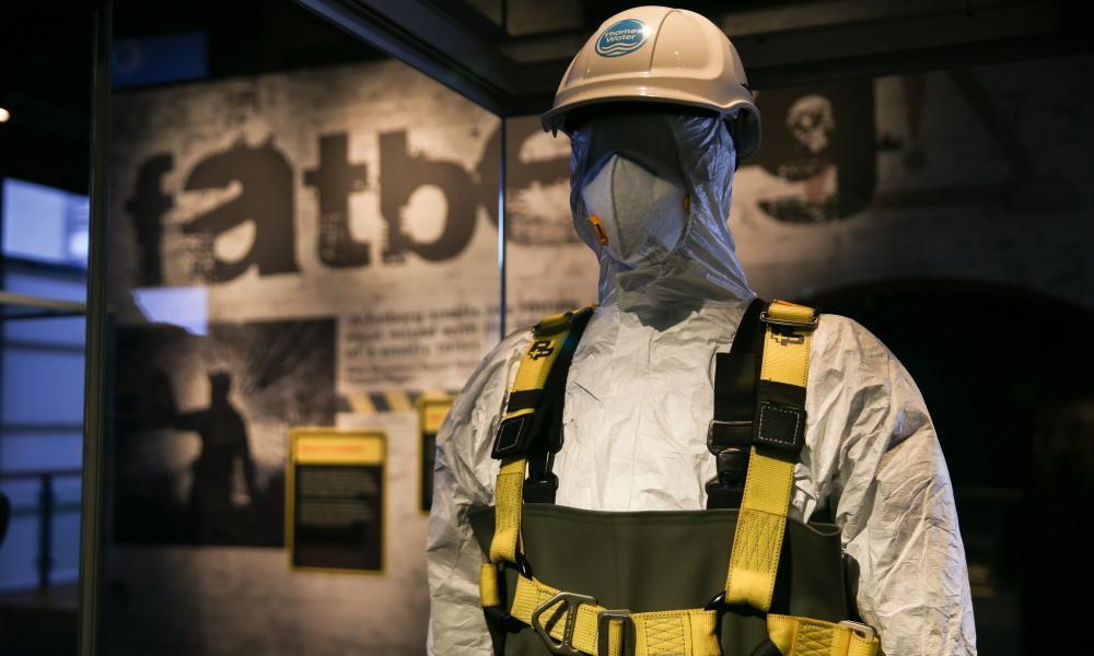 A sewage worker's overalls at the Fatberg exhibition.