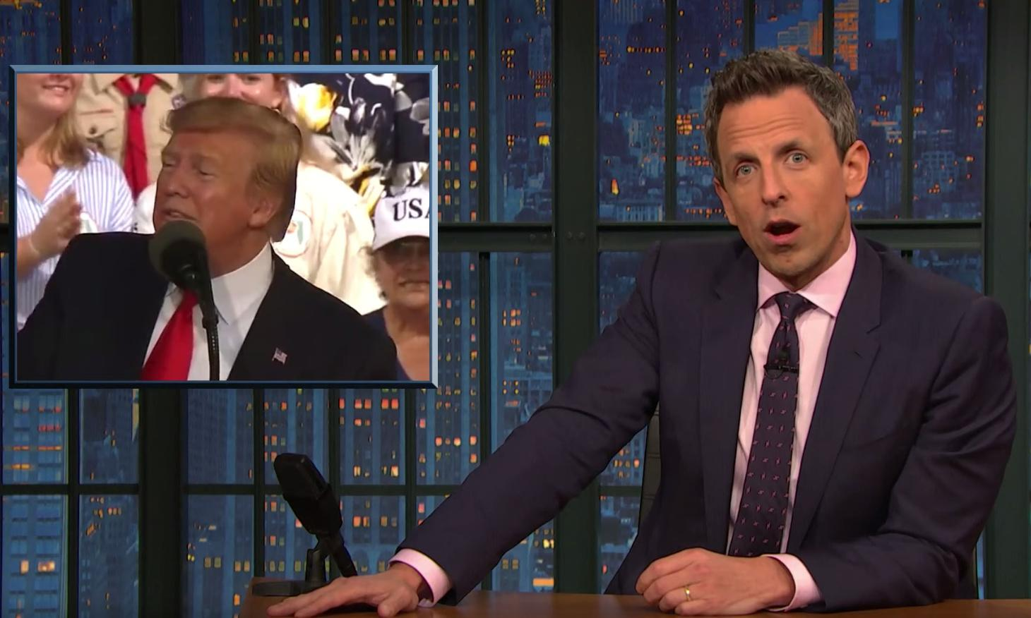 Seth Meyers to Trump: 'You don't get credit for predicting headlines you created'
