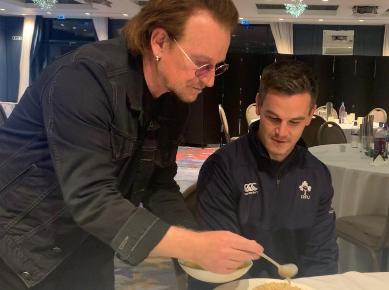 Bono drops in to help give Andy Farrell's Ireland the edge against England