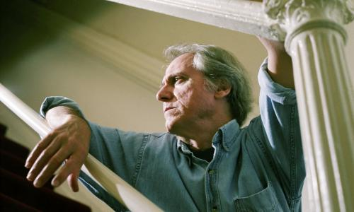 Writer Don Delillo poses January 10, 2004 in New York.