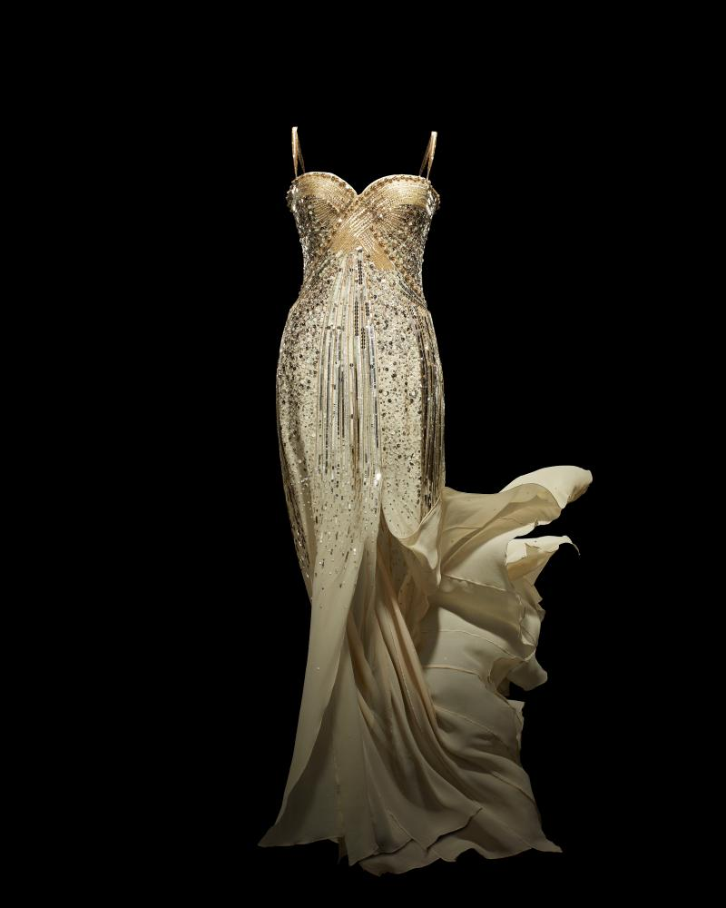 An evening dress from a Christian Dior by John Galliano collection, 2008.