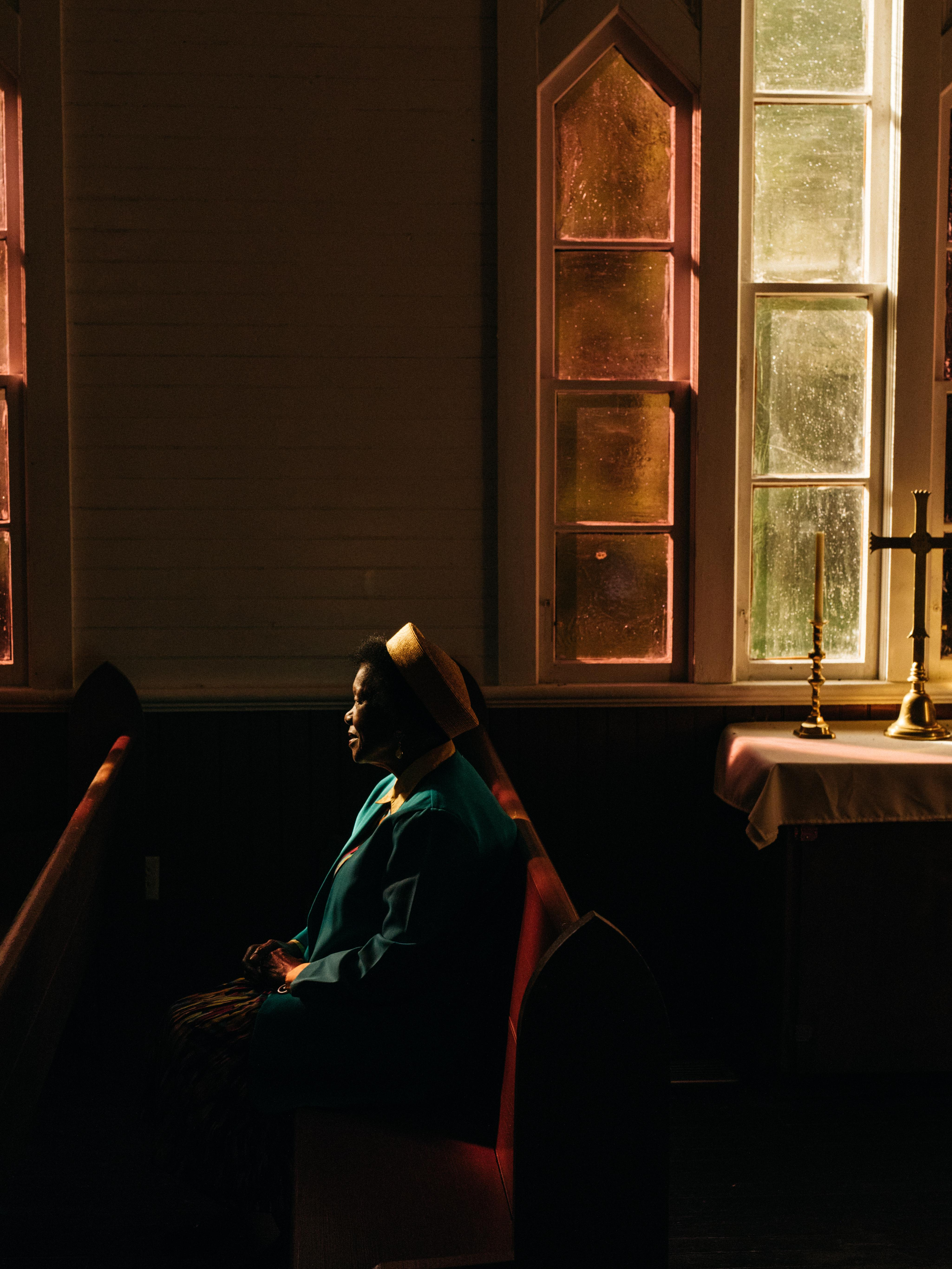 Robbie Lawrence's best photograph: a woman praying in Georgia's Low Country