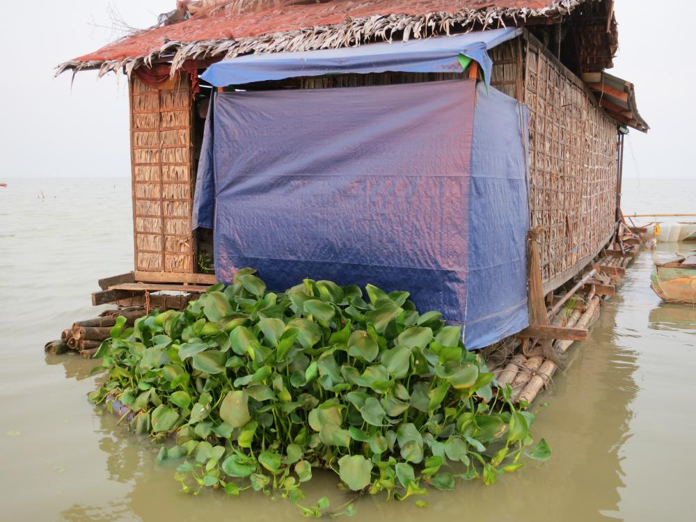 A HandyPod attached to floating house, on Tonlé Sap lake