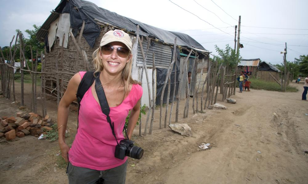 Film-maker Kate Horne in Colombia