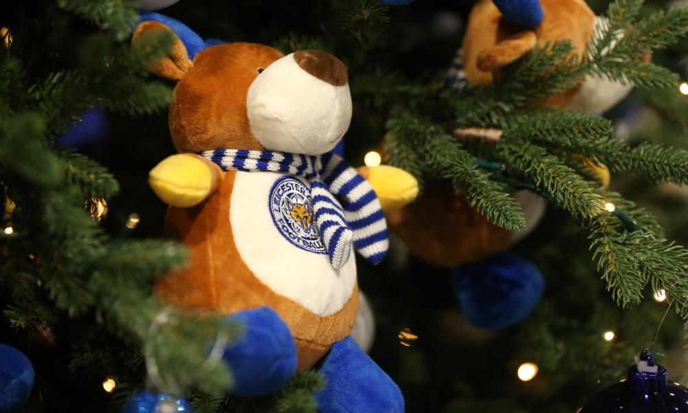 A Leicester City Christmas reindeer