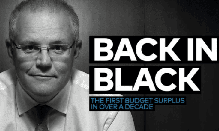 Morrison's Back In Black surplus ad seems to suffer a deficit of originality
