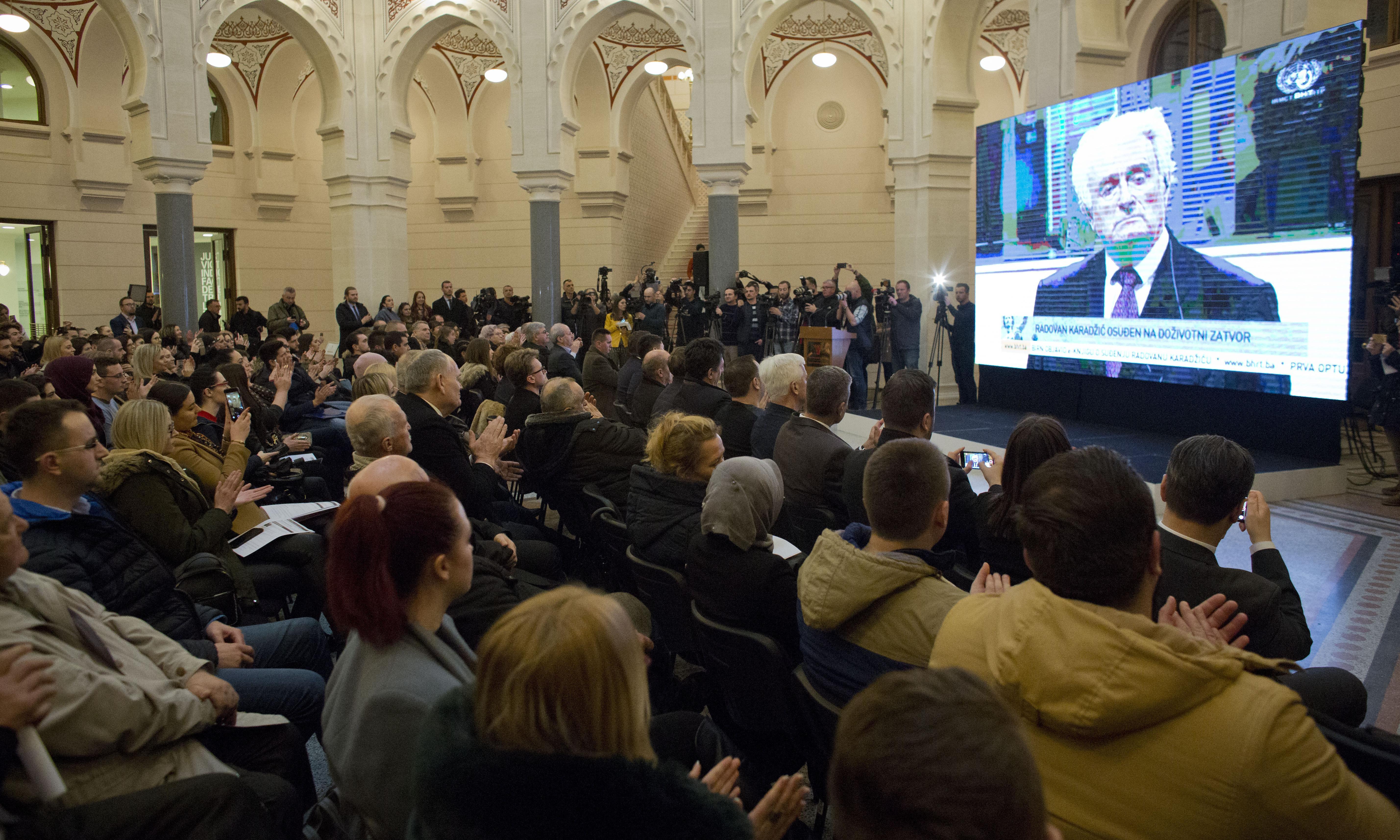 Radovan Karadžić war crimes sentence increased to life in prison