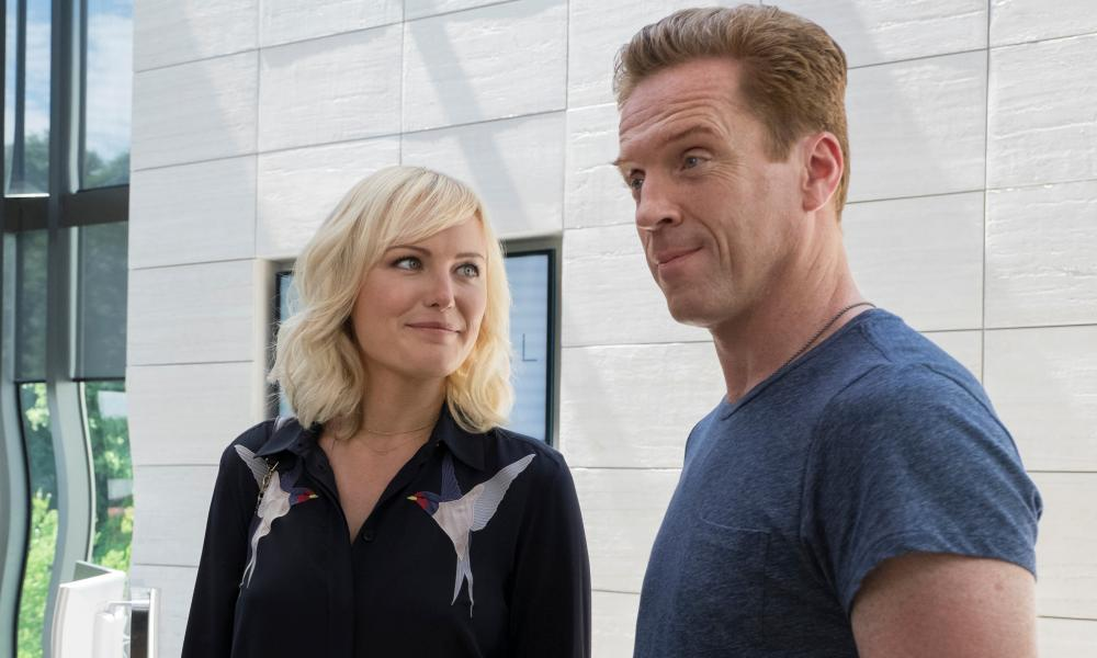 Malin Akerman and Damian Lewis in Billions.