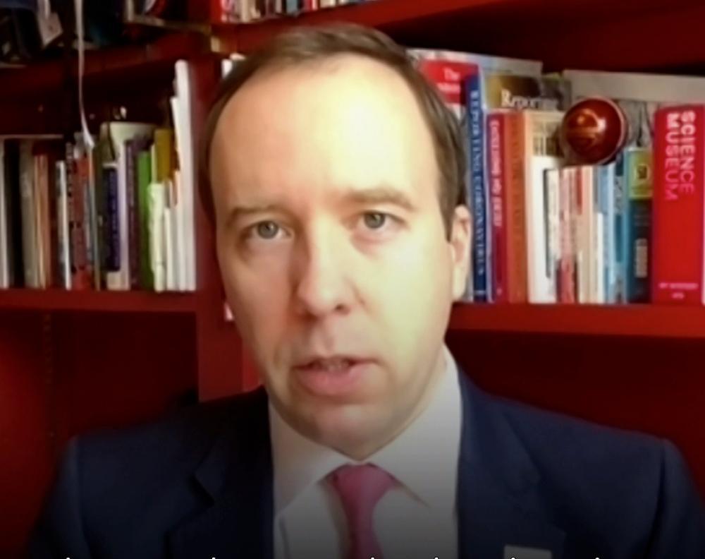 Matt Hancock speaking on SkyNews on 21 February, 2021.