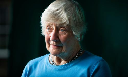 Renowned labour and SDP Liberal Democrat politician Shirley Williams seen before speaking at the Edinburgh International Book Festival, Edinburgh, Scotland.