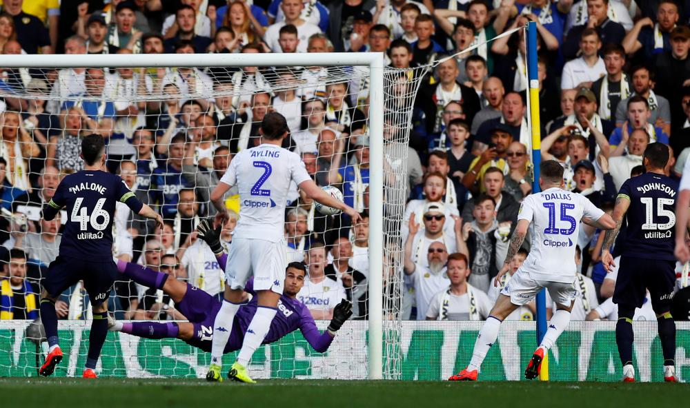 Dallas scores the opener for Leeds.
