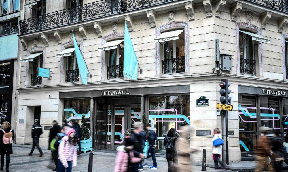 Tiffany's on the Champs-Élysées in Paris.