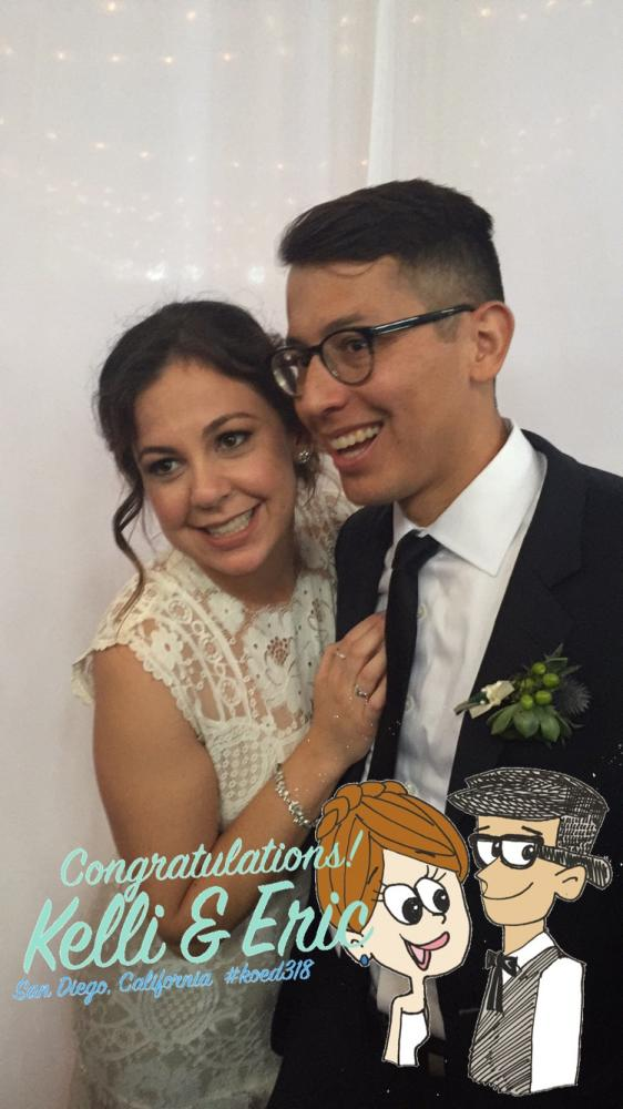 Kelli O'Merry bought an on-demand Snapchat geofilter to use at her wedding in March.