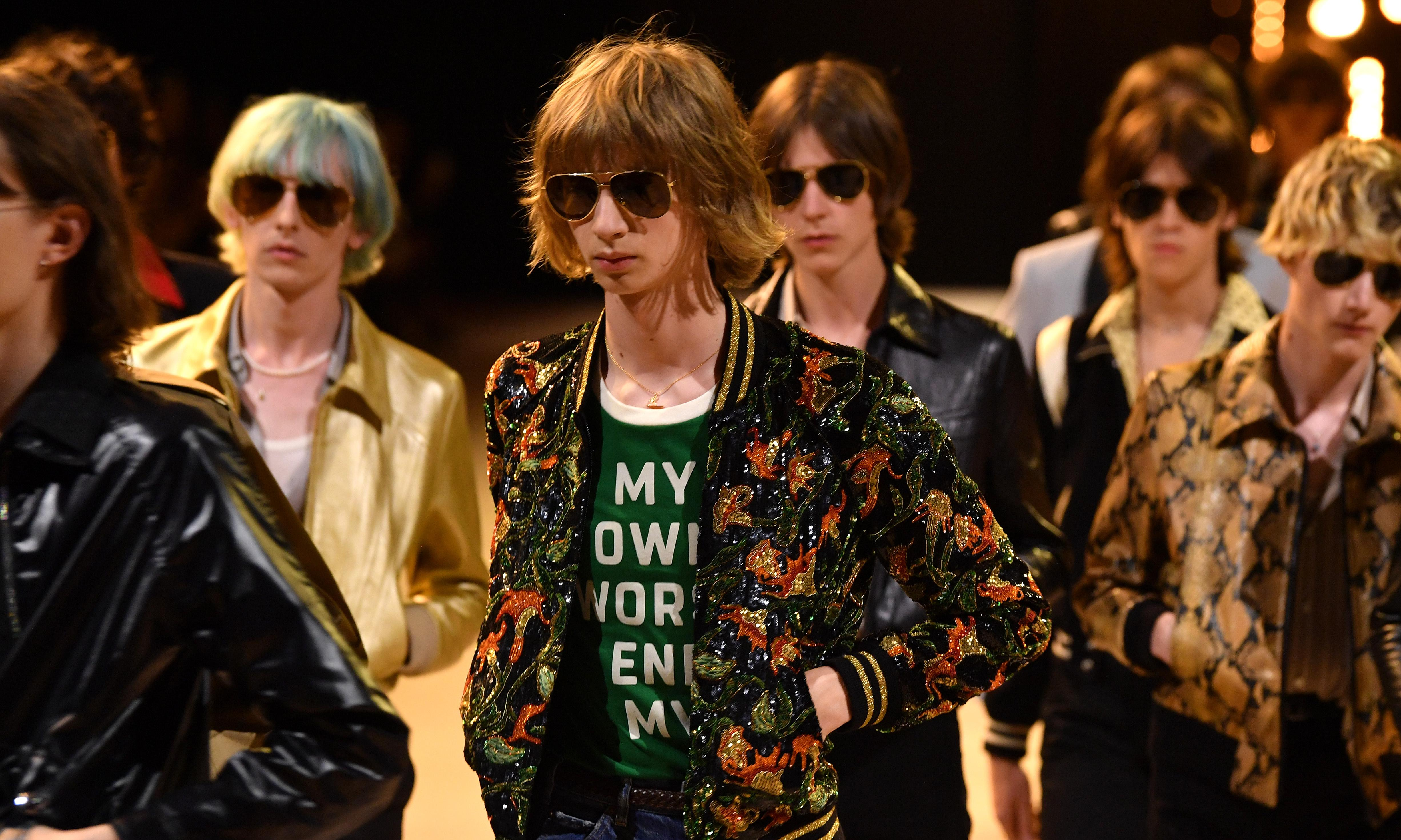 Hedi Slimane wows Paris fashion week with 70s-inspired collection