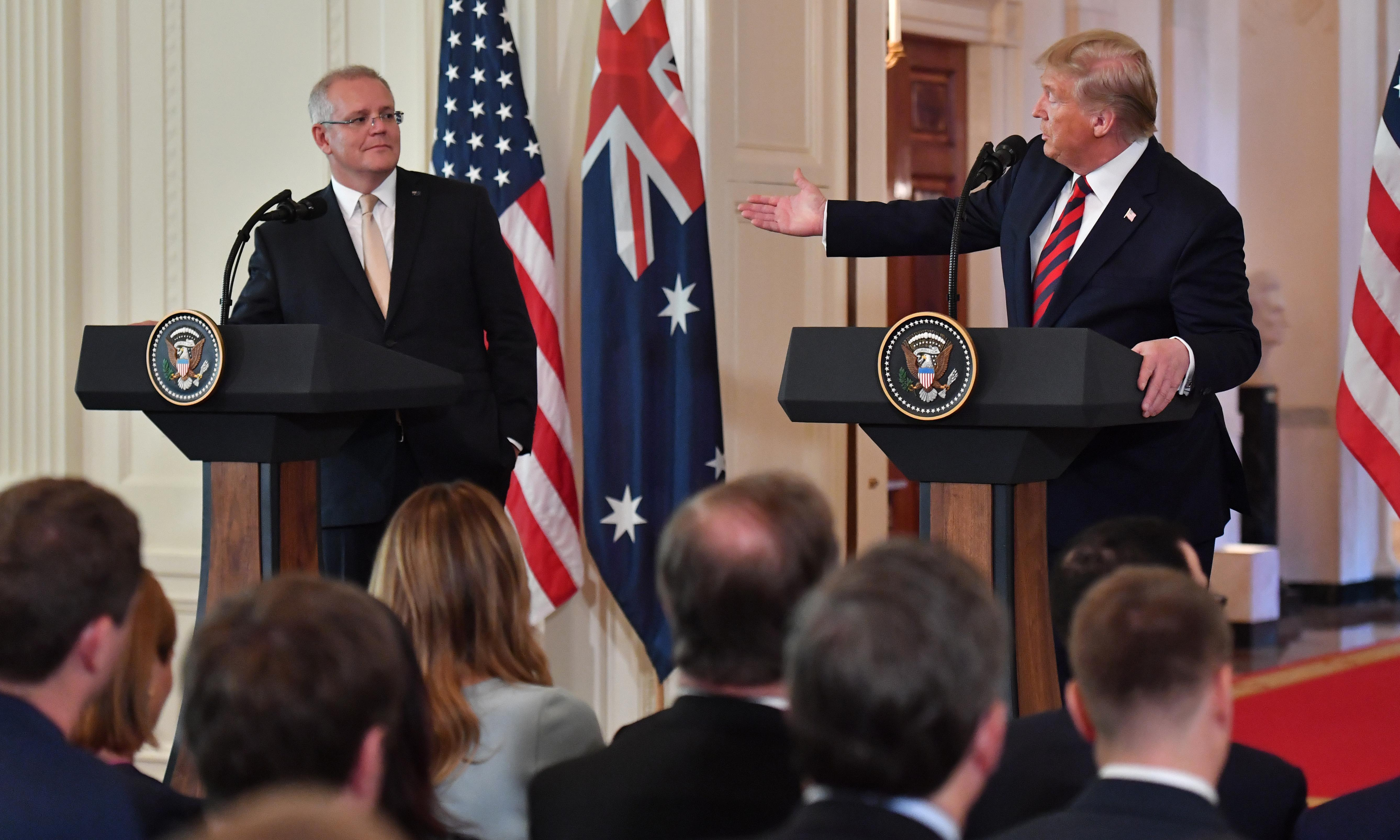 Scott Morrison scrambles to contain political mushroom cloud after Trump raises nuclear option with Iran