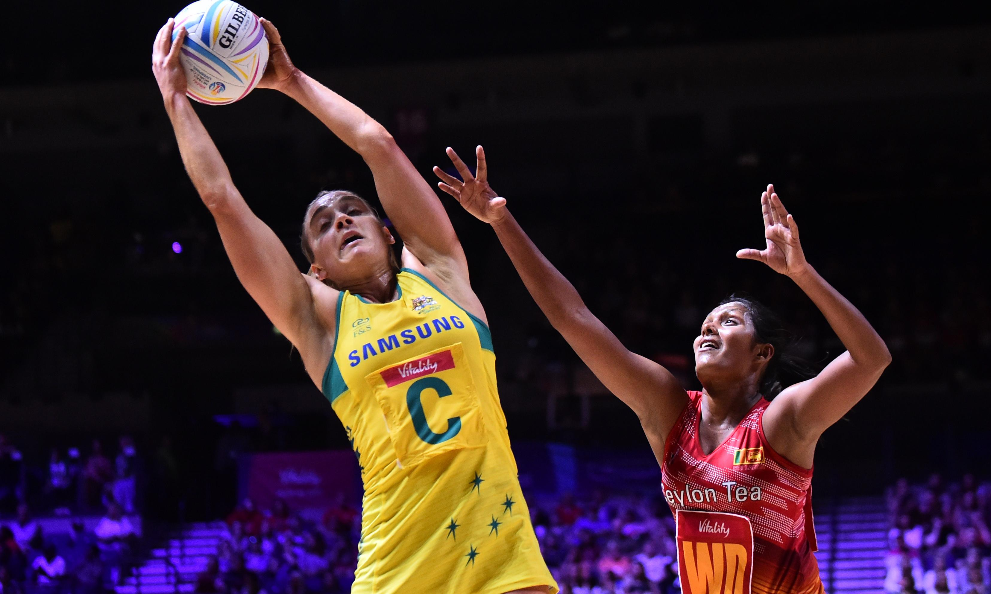 Diamonds top pool after 'measured' 75-goal win at Netball World Cup