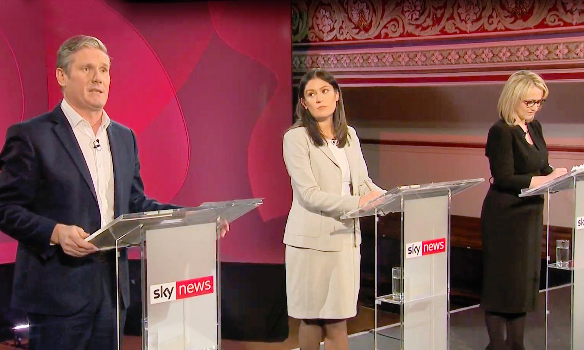 Nandy and Starmer clash over Brexit and antisemitism in TV debate