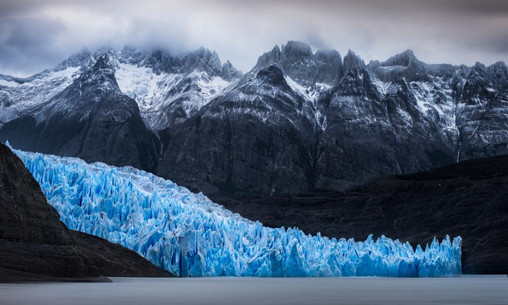 Cold as ice: the Grey Glacier.