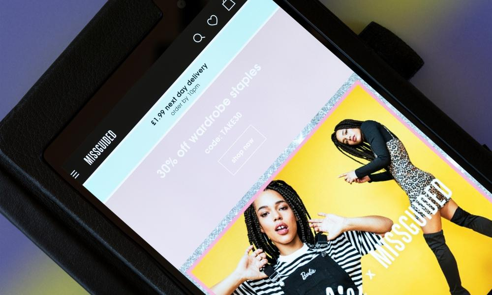 An app for the online fashion retailer Missguided.