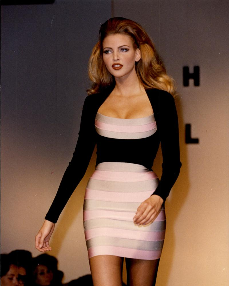 A Hervé Léger bender dress, Paris, 1992.