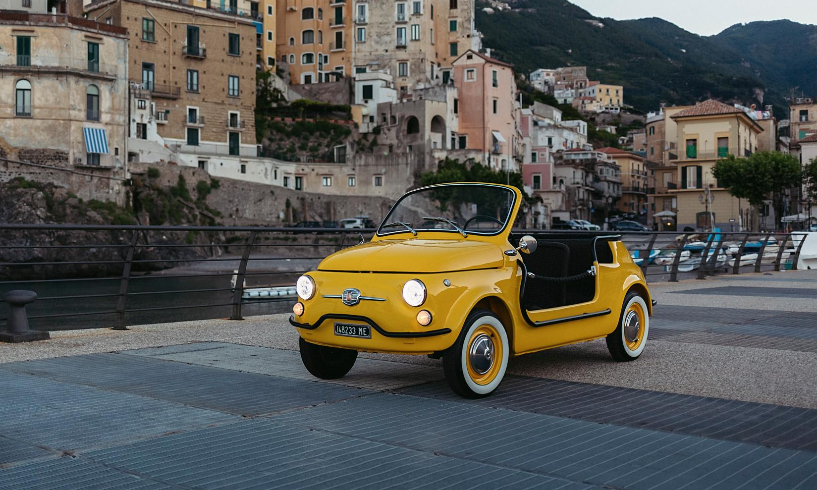 Fiat 500 Jolly Spiaggina e-Icon: 'You too can sample la dolce vita'