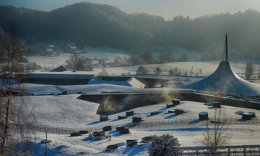 Terme Olimia in the the snow.