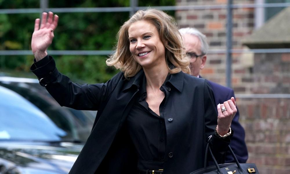 Amanda Staveley in Newcastle on Thursday after completing the buyout.