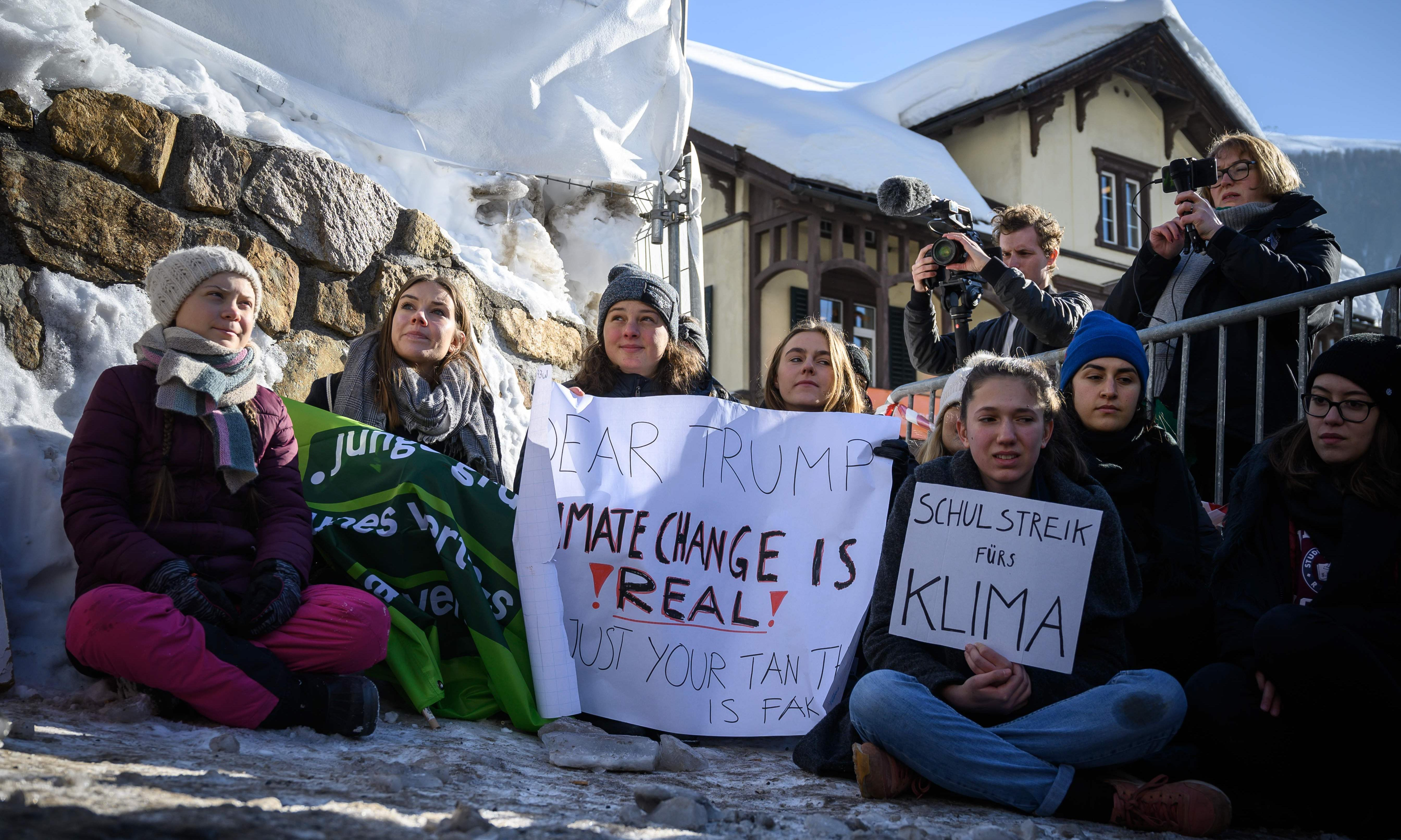 'Our house is on fire': Greta Thunberg, 16, urges leaders to act on climate