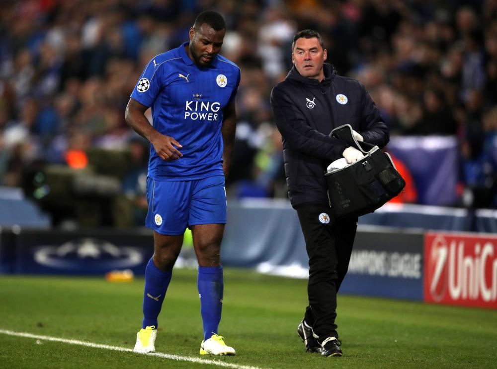 Morgan walks off with an injury.