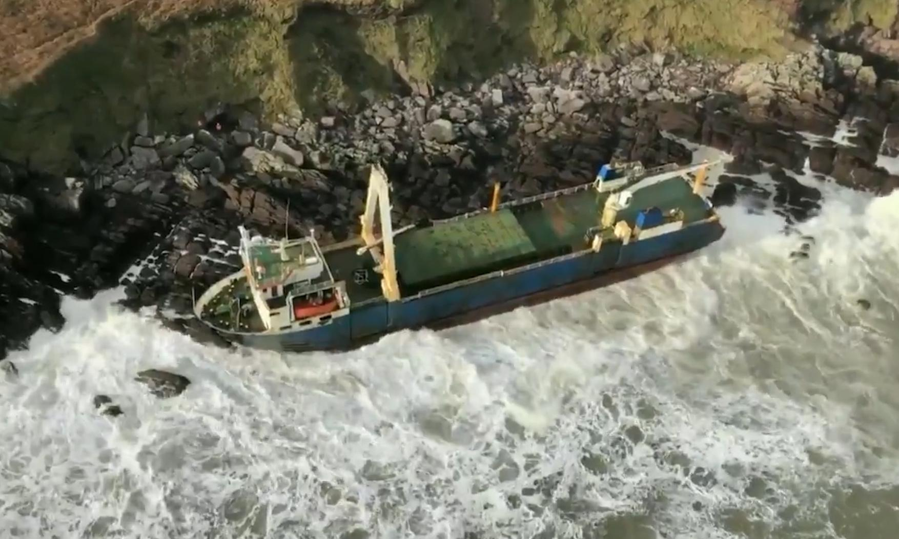 Ghost ship washes ashore in Ireland after more than a year at sea