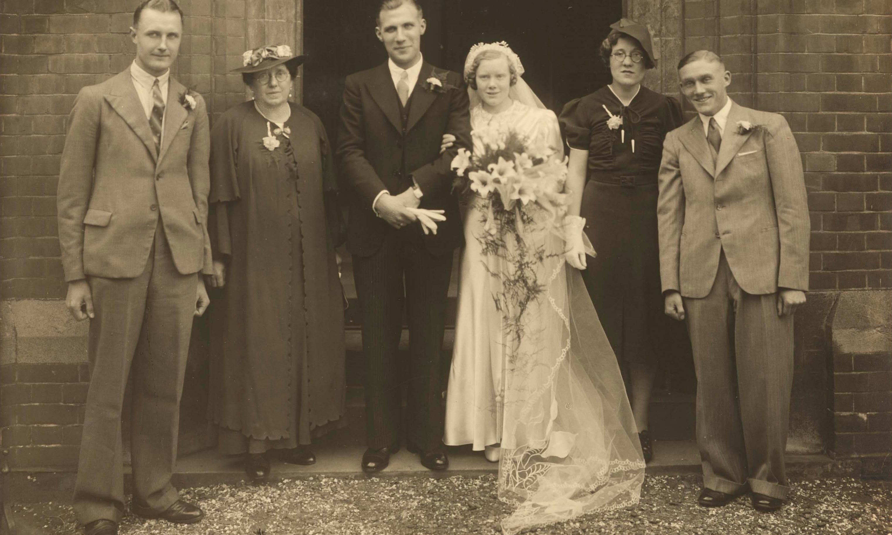 One dress, five weddings: gown with a history goes on display