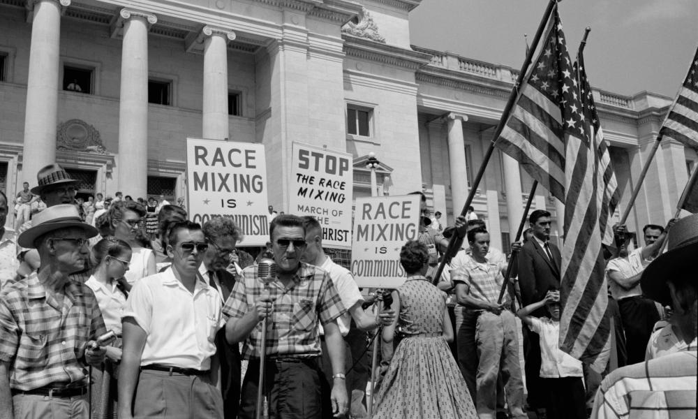 Against integration … rally in Little Rock, Arkansas, 1959. Photograph: John T Beldsoe/Photoquest/Getty