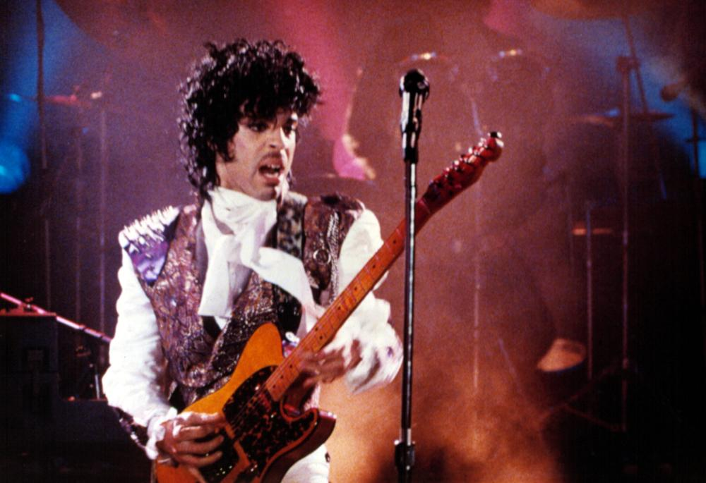 On the Purple Rain tour in 1984.