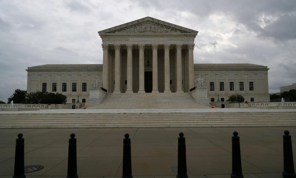 Storm clouds roll in over the U.S. Supreme Court.