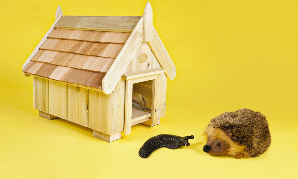 The Posh Shed Company hedgehog house.