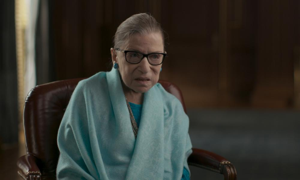 Ruth Bader Ginsburg in the film