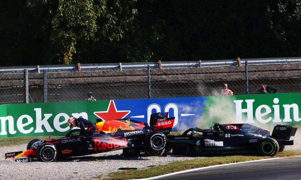 Max Verstappen and Lewis Hamilton both crash out