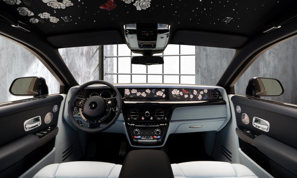 New bespoke Roller replete with star-filled roof interior.