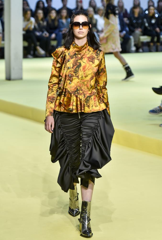 A model wearing Marques Almeida