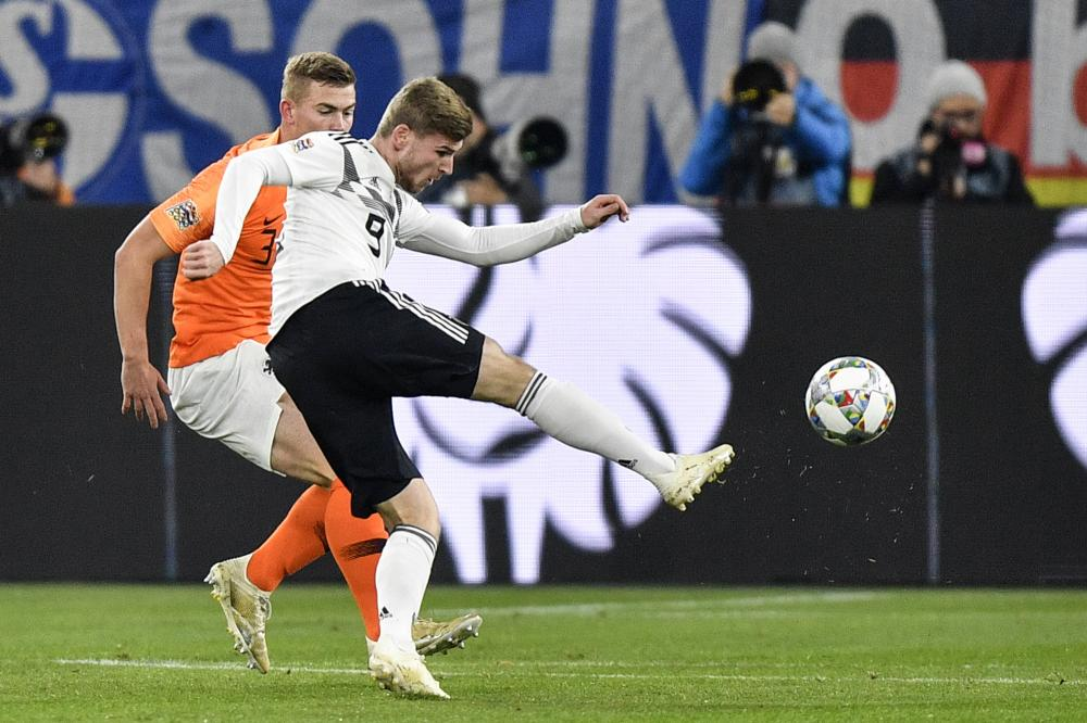 Timo Werner fires in the opening goal.