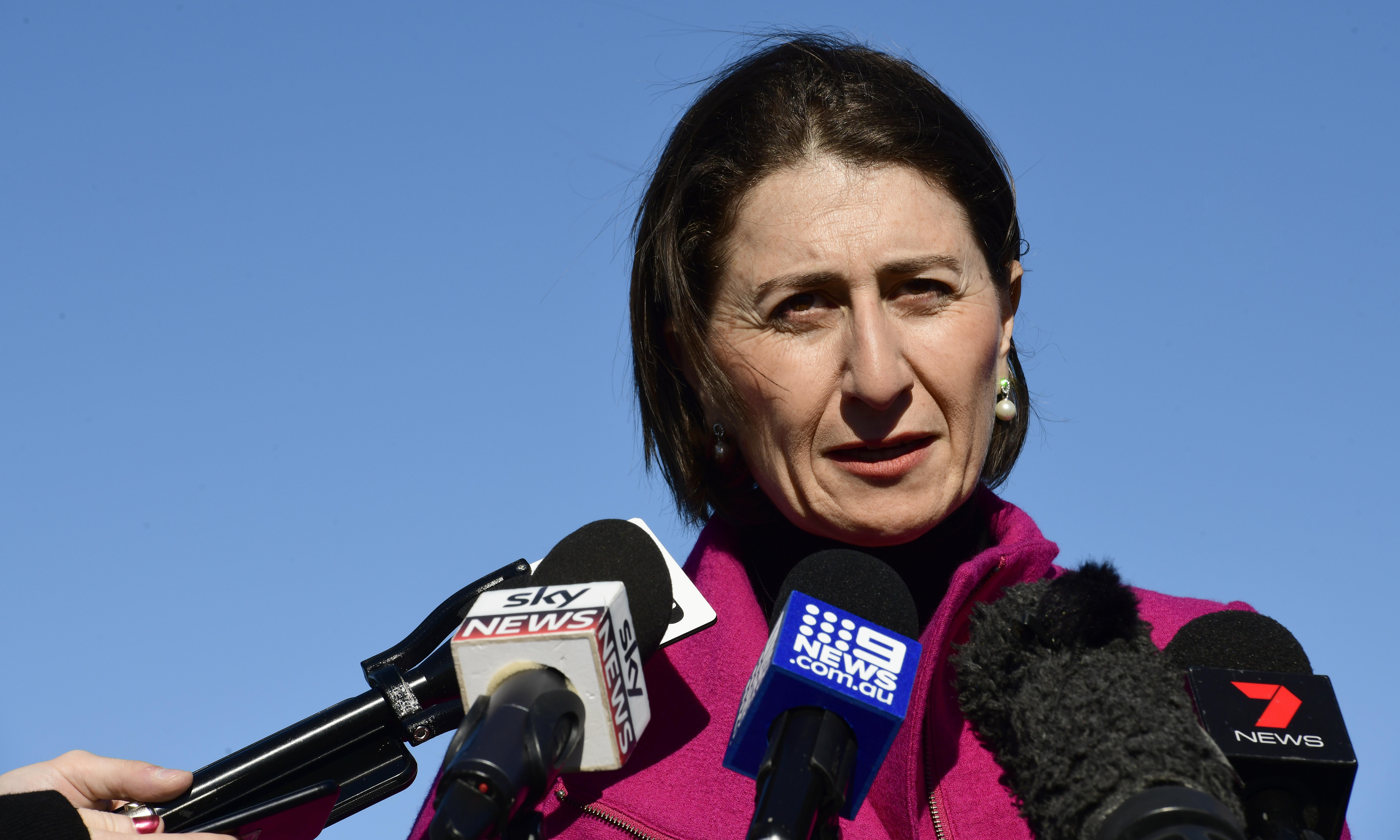 Berejiklian sticks to drug abstinence stance when asked about over-policing at festivals