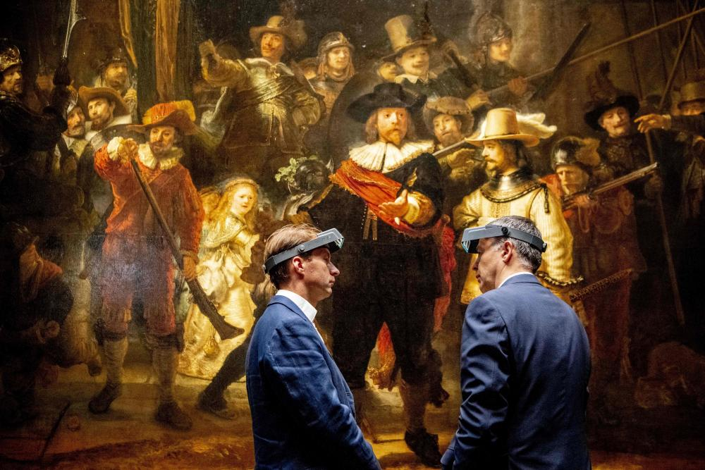 Rembrandt's The Night Watch at Amsterdam's Rijksmuseum.