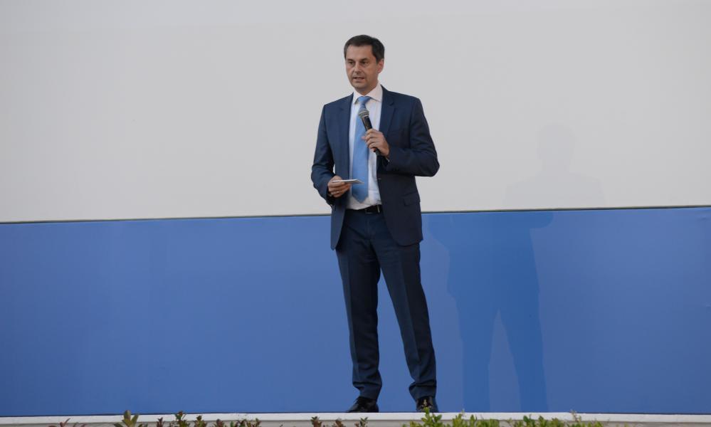 Greek minister of tourism Harry Theoharis. Credit: Dimitrios Karvountzis/Pacific Press/REX/Shutterstock