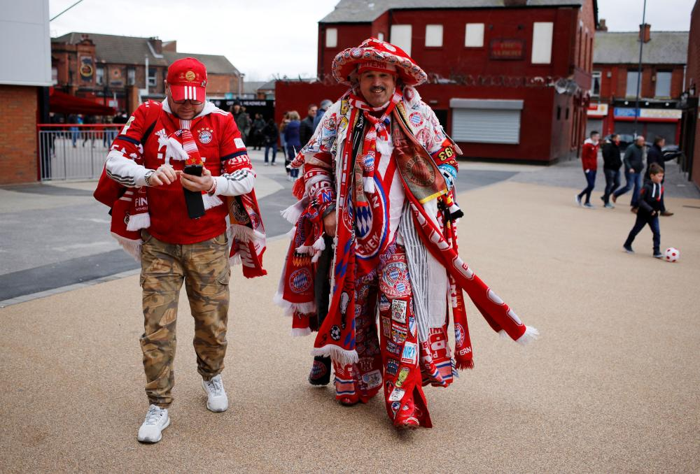 Bayern fans at Anfield. Strides, you say?