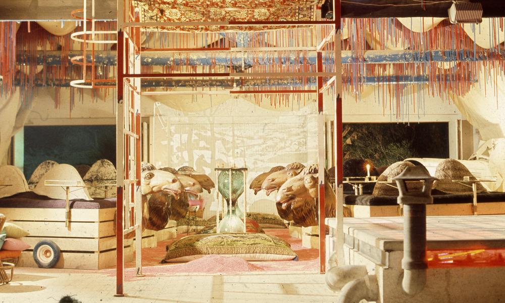Dry bar … camel seats at Bamba Issa disco in 1969.