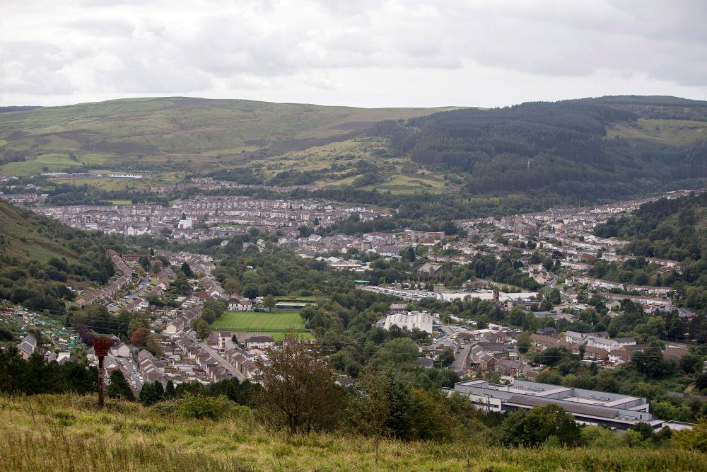 Treorchy in Rhondda Cynon Taff, south Wales.