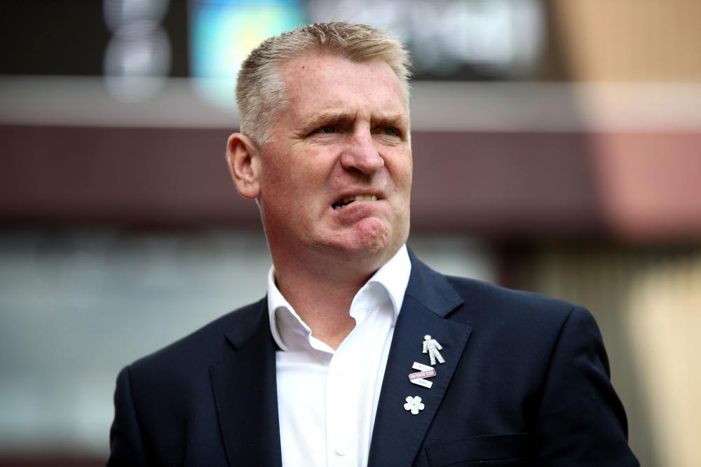 Aston Villa manager Dean Smith has got some work to do at half-time.