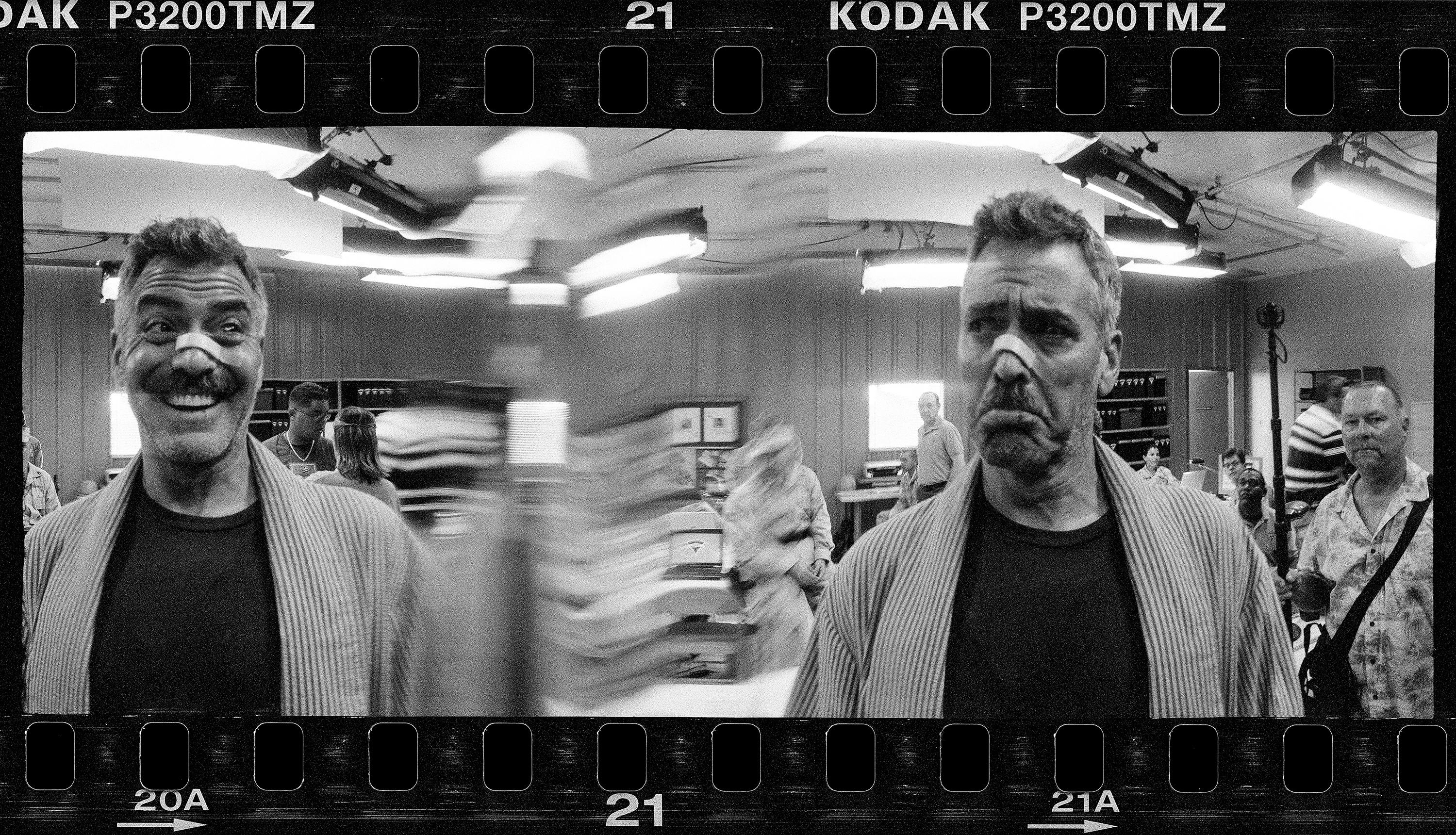 George Clooney with a plaster on his nose: Jeff Bridges' best photograph