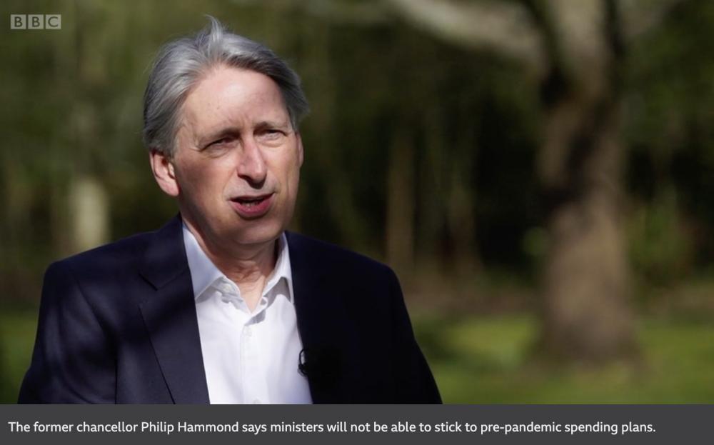 Philip Hammond talking to the BBC